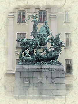 St Goran and the dragon, in Stockholm, Sweden